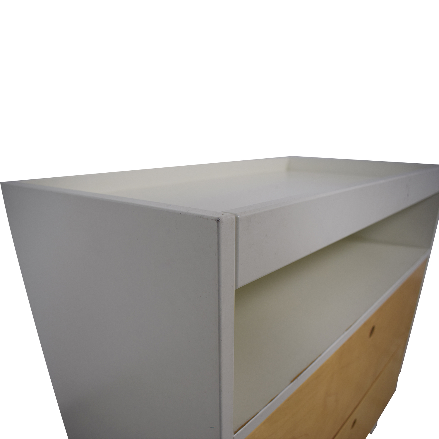 shop Oeuf White and Natural Two-Drawer Dresser with Changing Table Top Oeuf Dressers