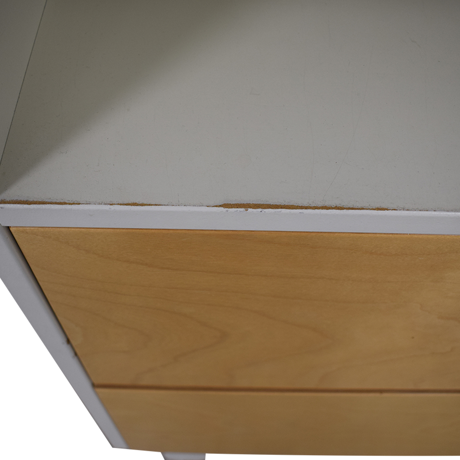 Oeuf Oeuf White and Natural Two-Drawer Dresser with Changing Table Top on sale