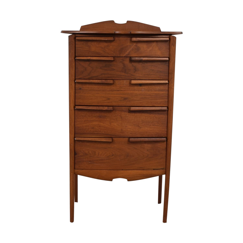 shop Mid-Century Five-Drawer Tall Dresser  Dressers