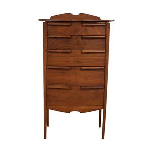 Mid-Century Five-Drawer Tall Dresser dimensions