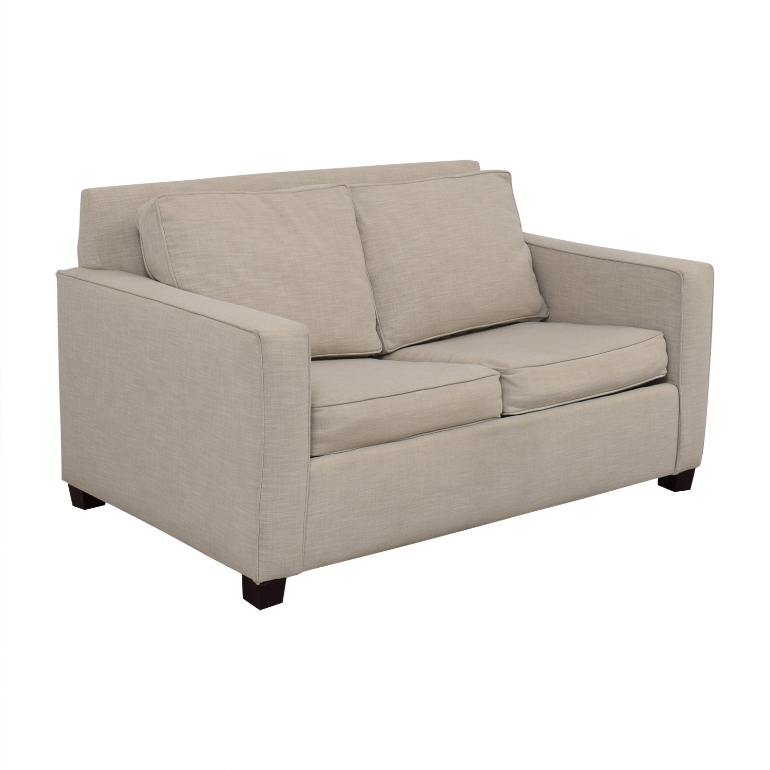 West Elm Henry Grey Loveseat with Twin Pullout Convertible West Elm