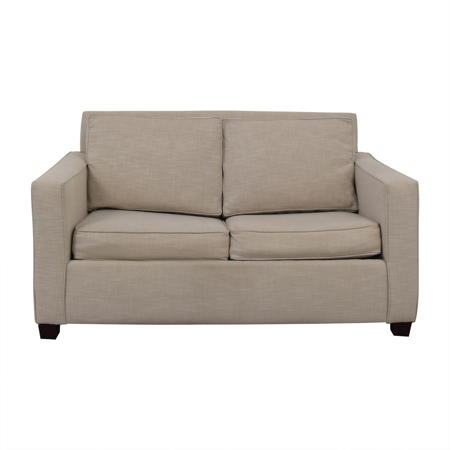 West Elm West Elm Henry Grey Loveseat with Twin Pullout Convertible nyc