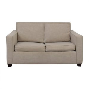 West Elm West Elm Henry Grey Loveseat with Twin Pullout Convertible second hand