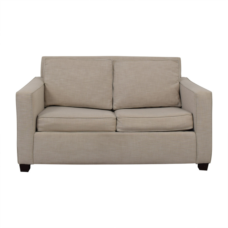 West Elm West Elm Henry Grey Loveseat with Twin Pullout Convertible dimensions