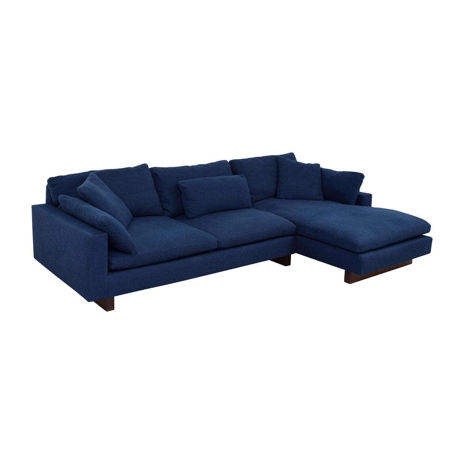 shop West Elm Indigo Chaise Sectional West Elm