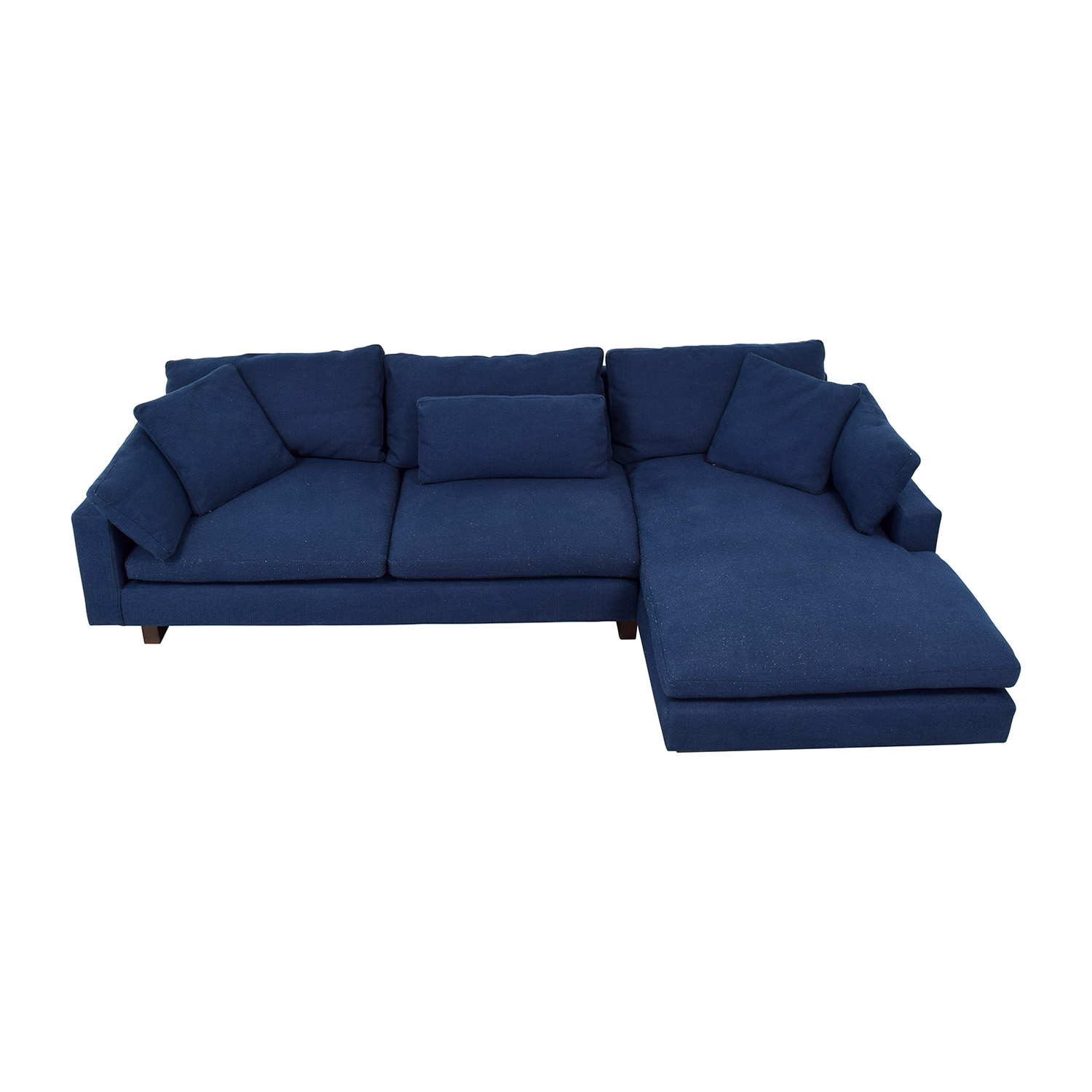 shop West Elm West Elm Indigo Chaise Sectional online
