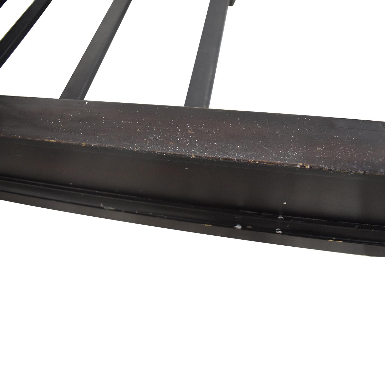 shop Restoration Hardware Portman Sleigh Queen Bed Frame Restoration Hardware