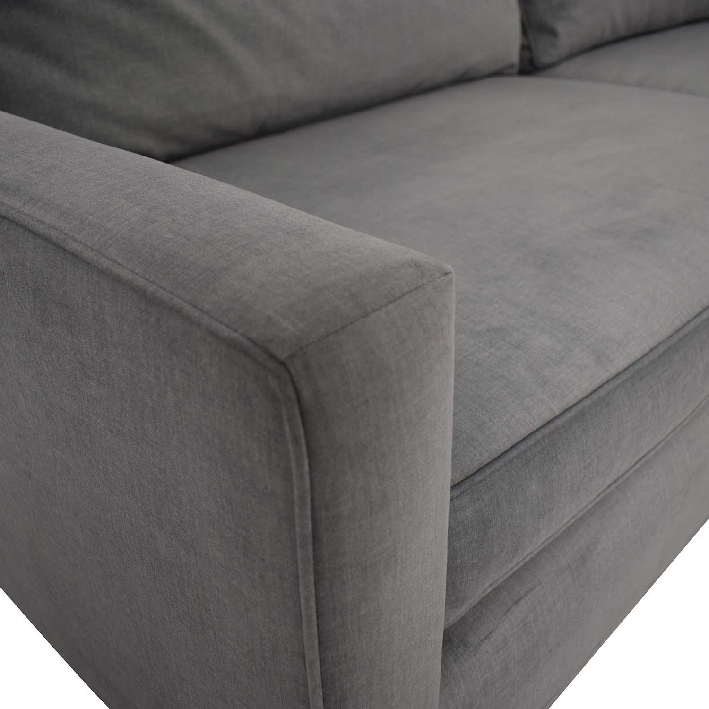 buy Mitchell Gold + Bob Williams Hunter Grey Two-Cushion Sofa Mitchell Gold + Bob Williams
