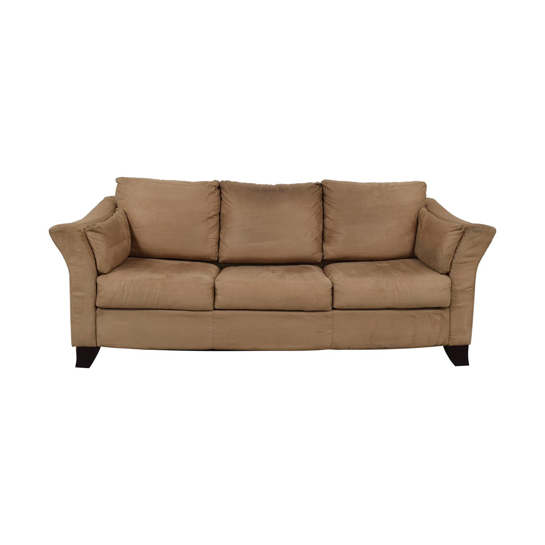 Jennifer Furniture Jennifer Furniture Beige Three-Cushion Covertiable Sofa nj
