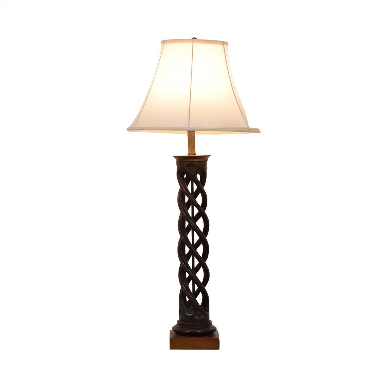 Twisting Table Lamp brown