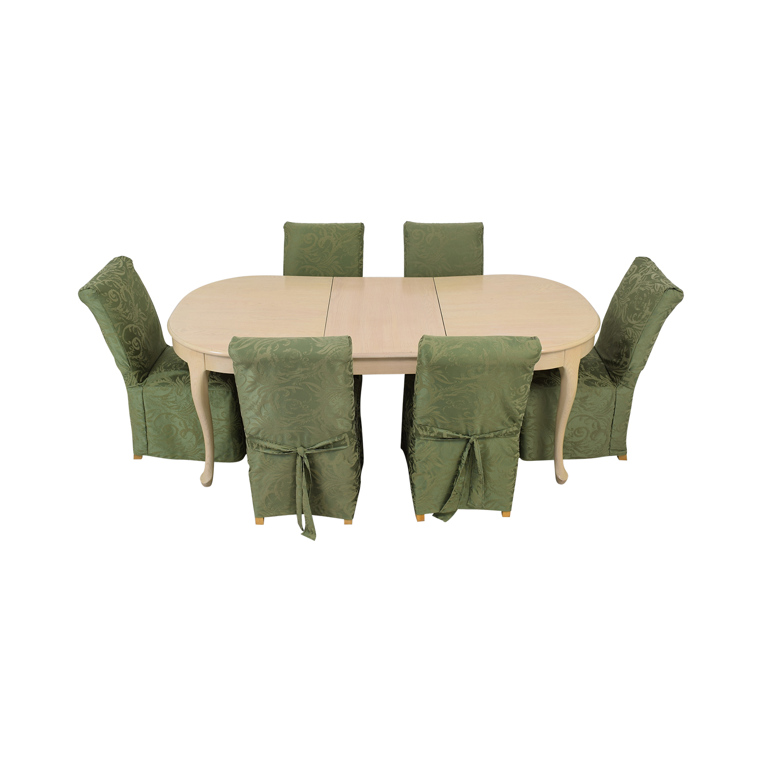 buy  Ottavio's Custom Dining Table With Six Parson Chairs online