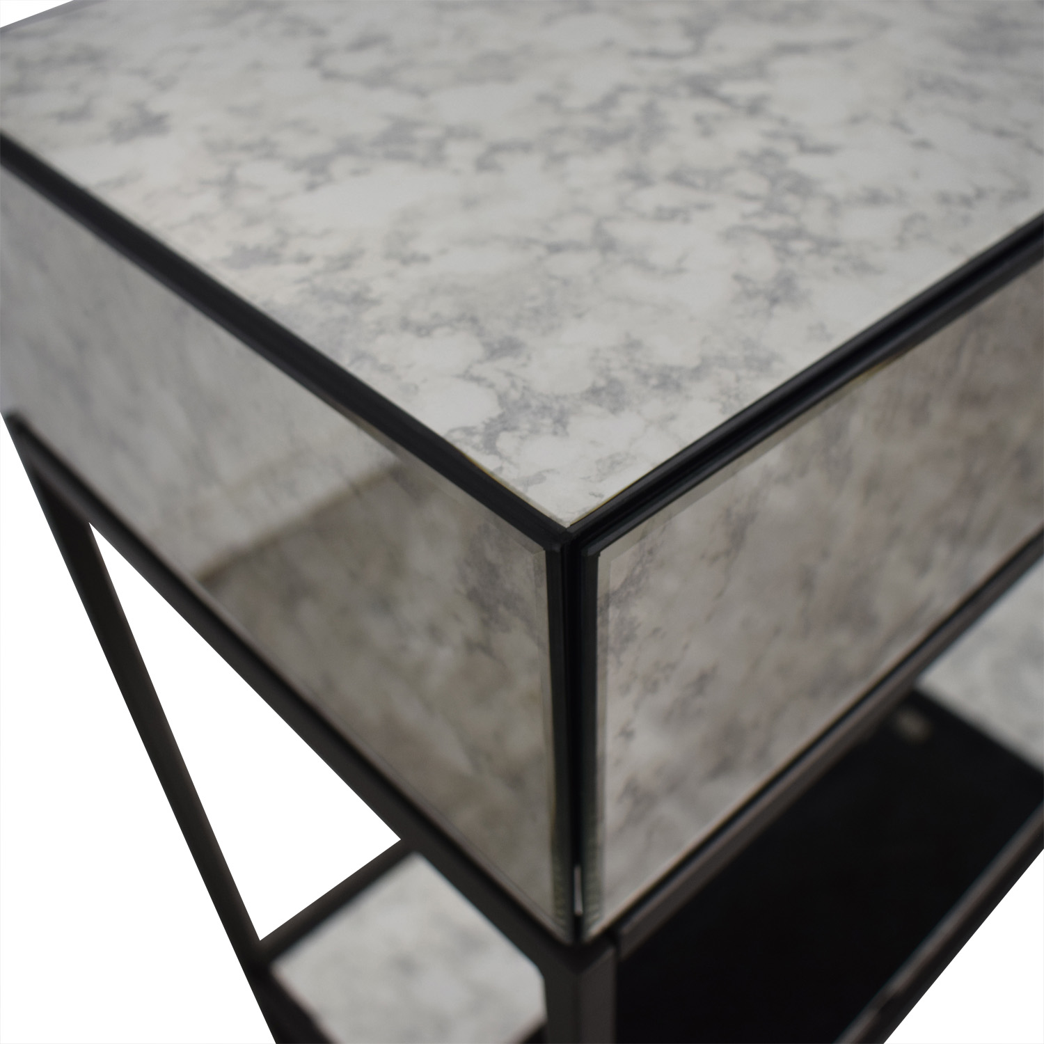 West Elm Two-Drawer Mirrored Accent Table / Tables