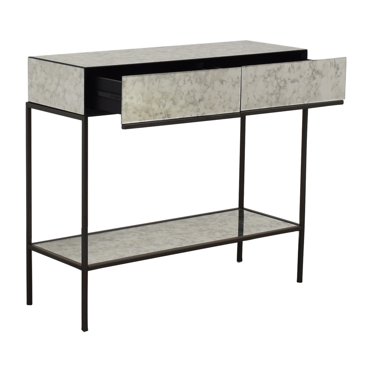 shop West Elm Two-Drawer Mirrored Accent Table West Elm