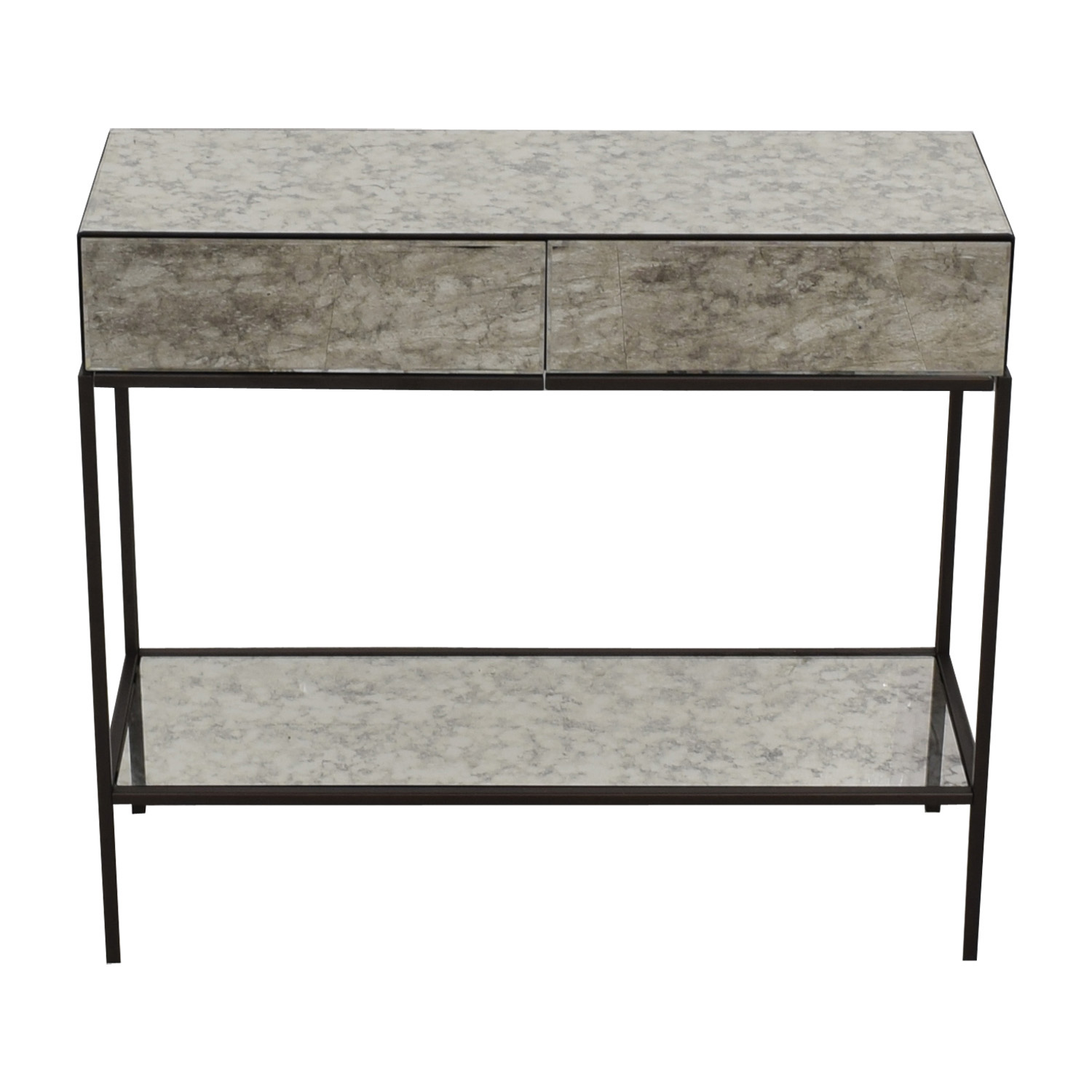 buy West Elm West Elm Two-Drawer Mirrored Accent Table online