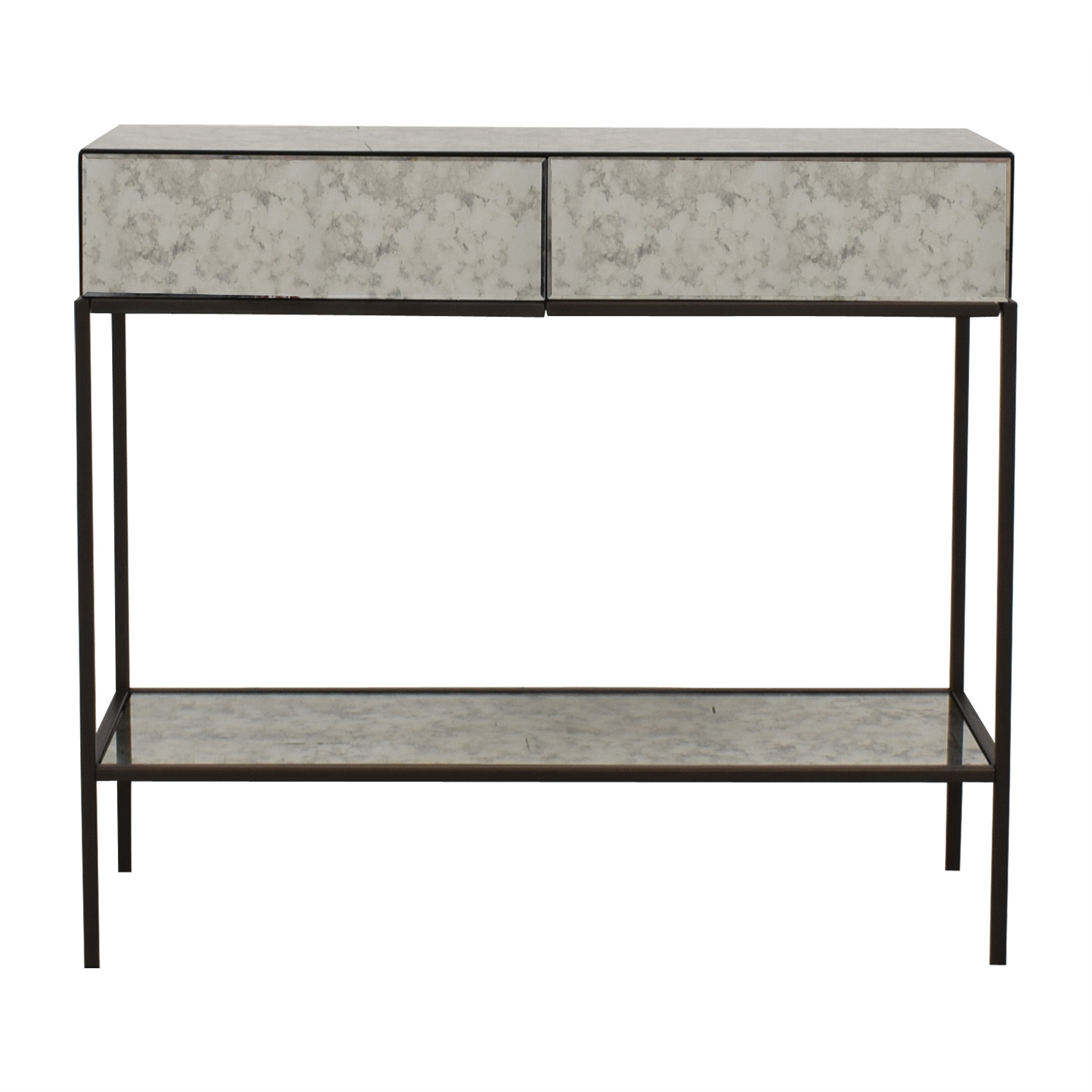 shop West Elm Two-Drawer Mirrored Accent Table West Elm Tables