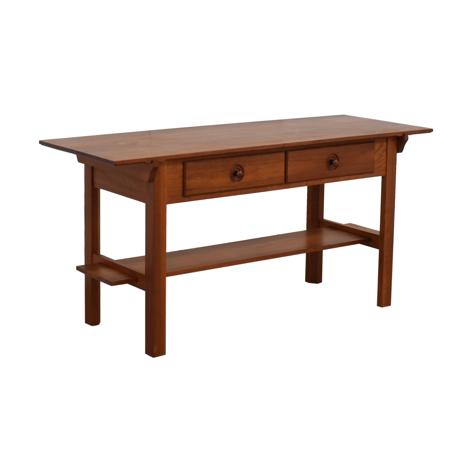 Scott Jordon Scott Jordon Wood Two-Drawer Utility Table