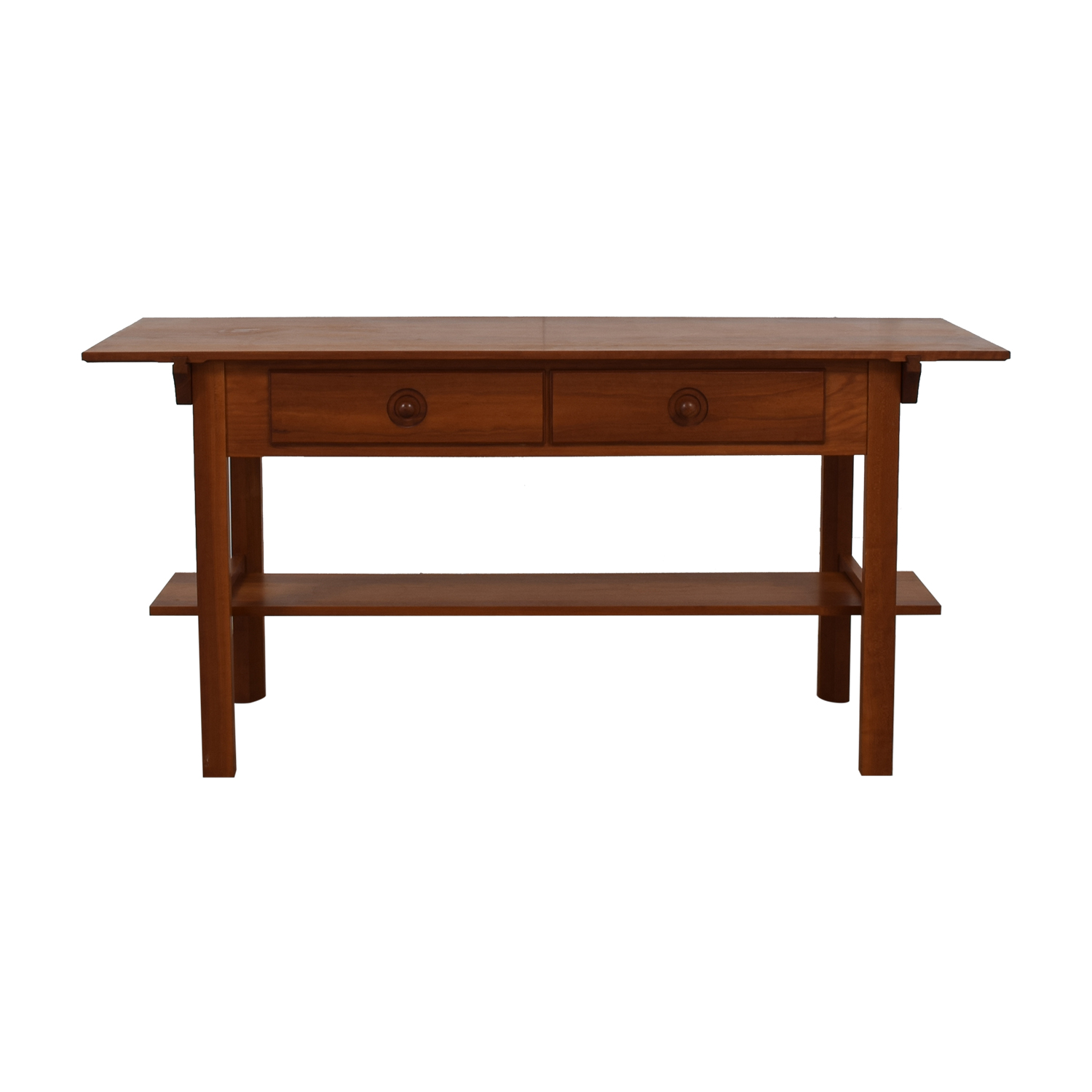 Scott Jordon Wood Two-Drawer Utility Table / Utility Tables