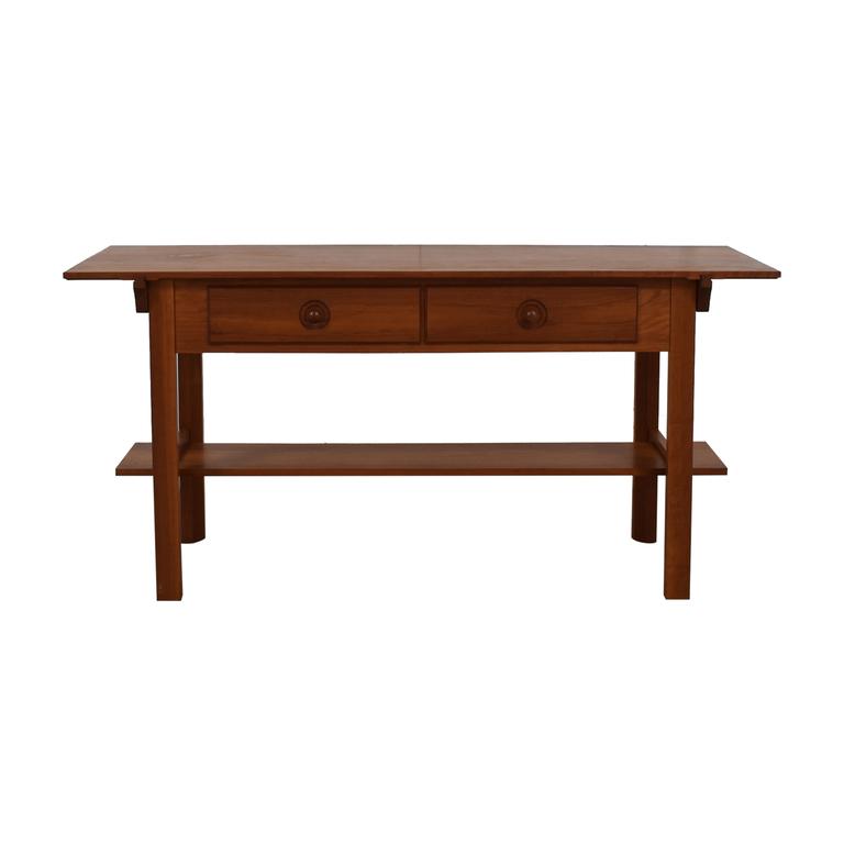 Scott Jordon Scott Jordon Wood Two-Drawer Utility Table for sale