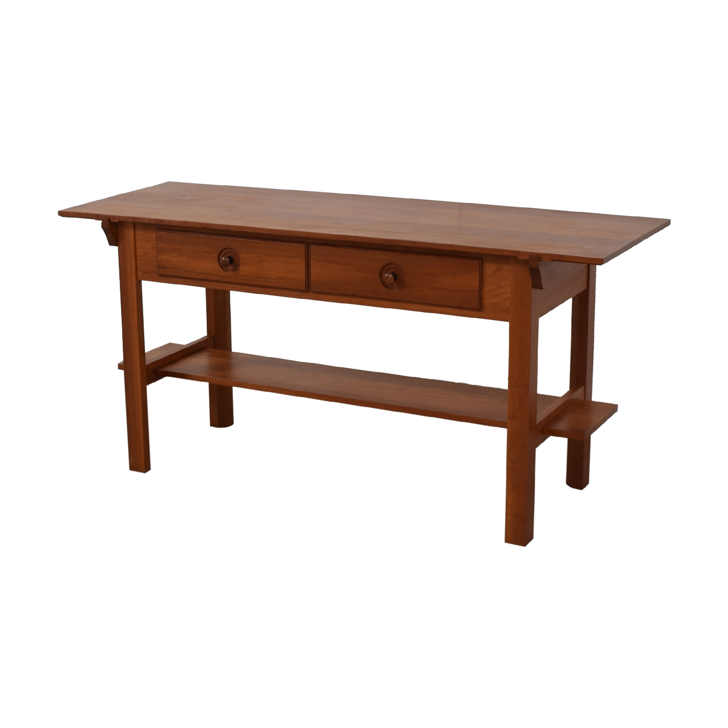 Scott Jordon Scott Jordon Wood Two-Drawer Utility Table for sale