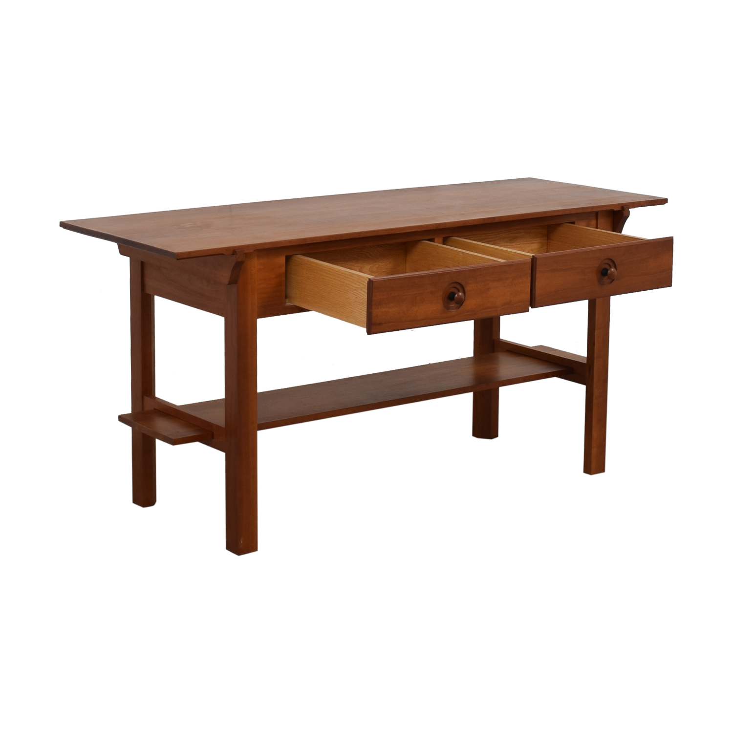 Scott Jordon Scott Jordon Wood Two-Drawer Utility Table nyc