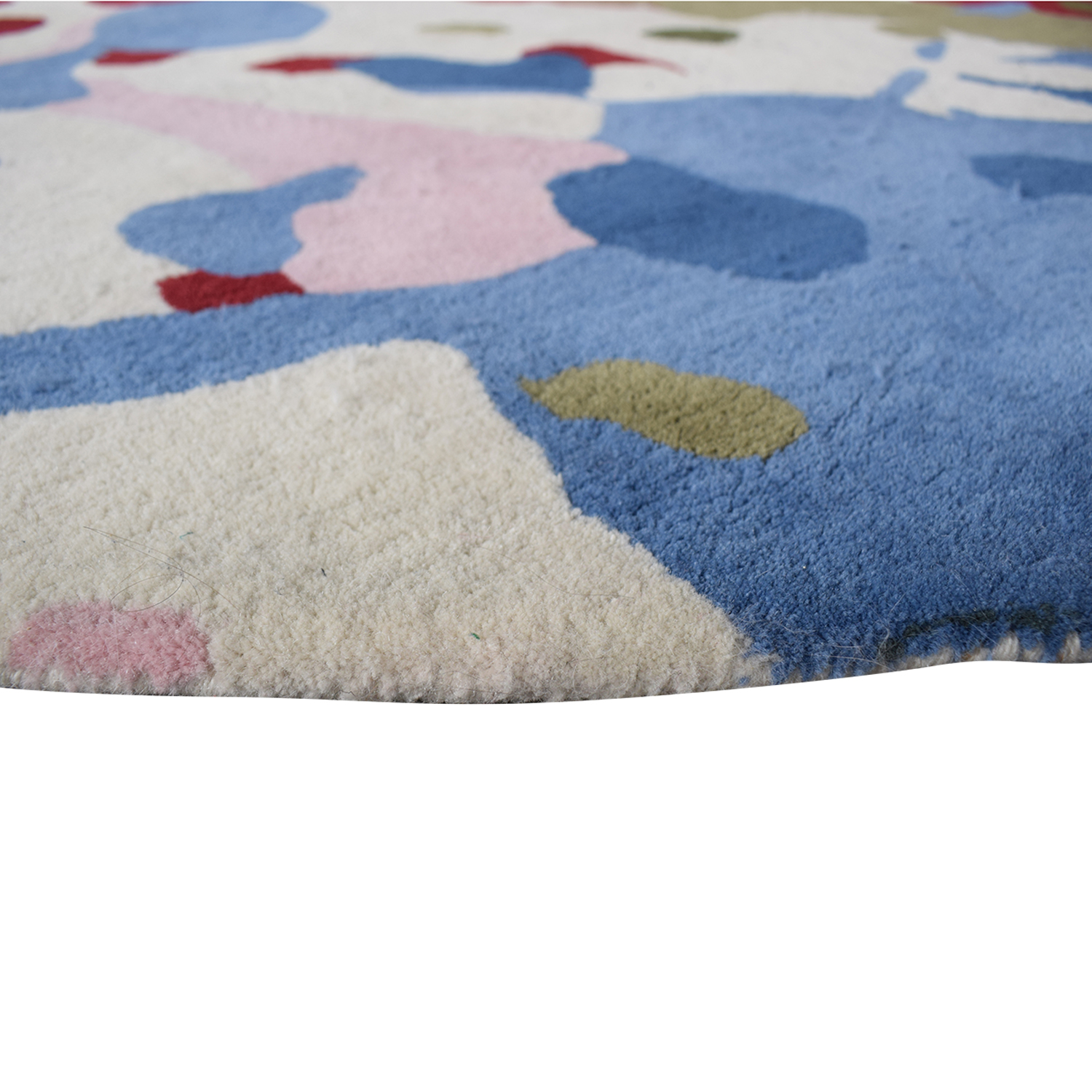 Obeetee Obeetee Round Multi-Colored Hand Tufted Rug