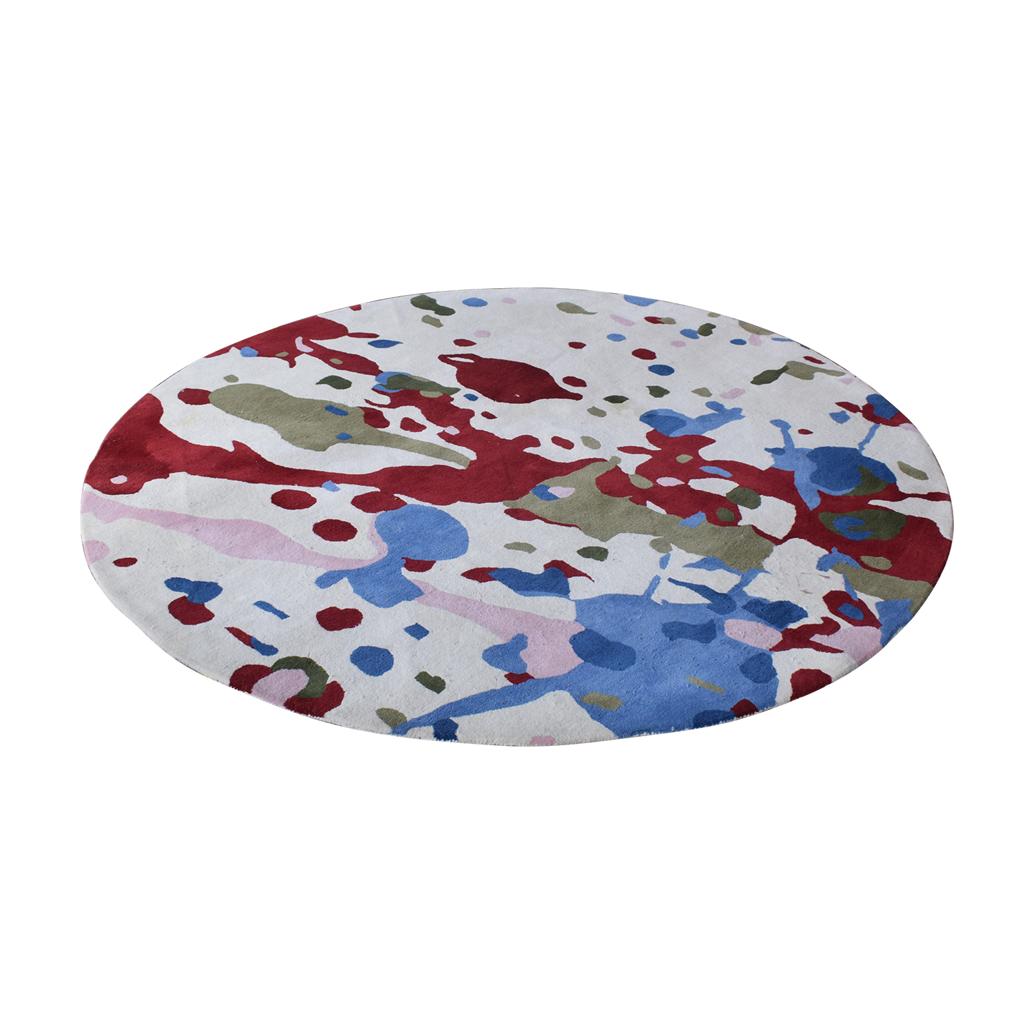 Obeetee Obeetee Round Multi-Colored Hand Tufted Rug coupon