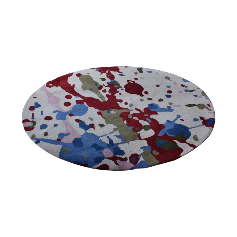 shop Obeetee Round Multi-Colored Hand Tufted Rug Obeetee Decor