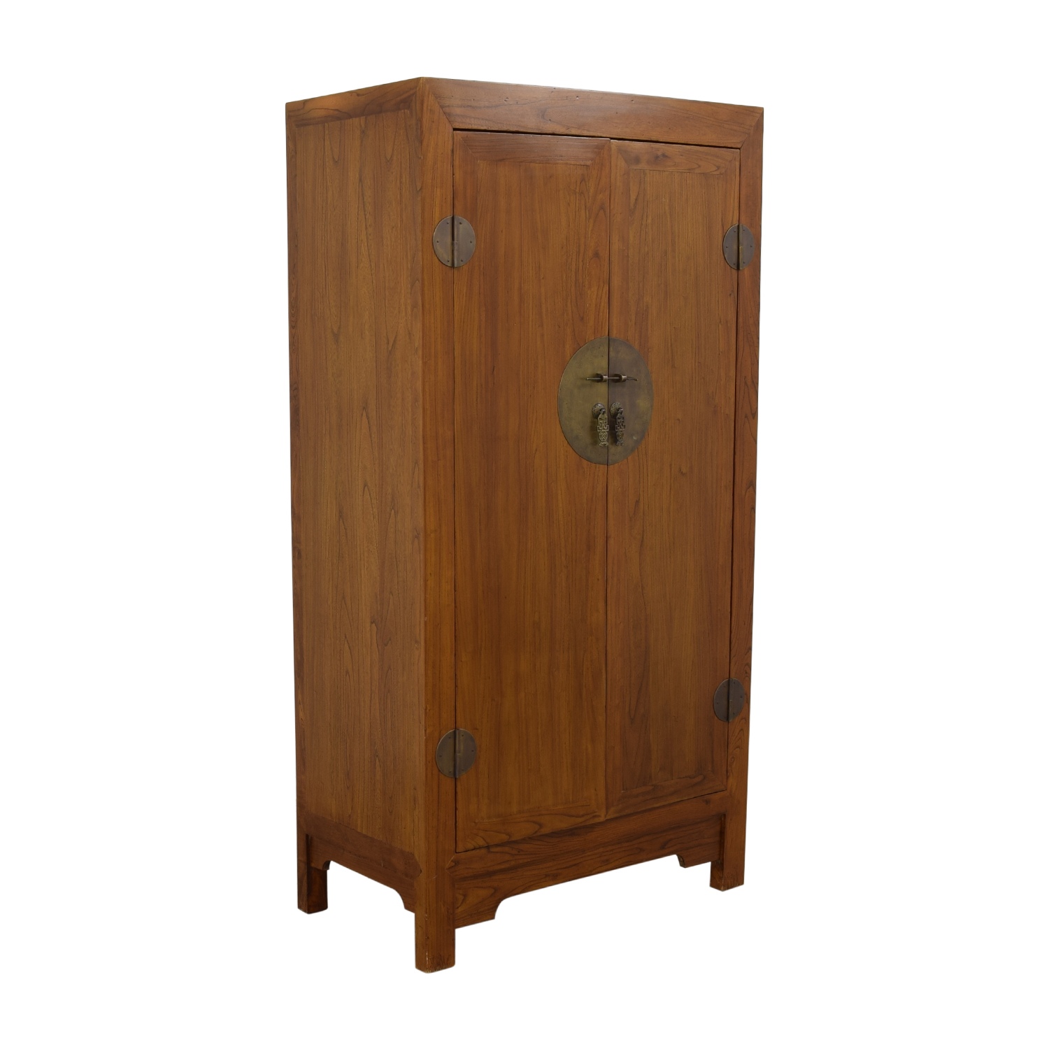 Two-Drawer Chinese Clothing or Media Armoire nj