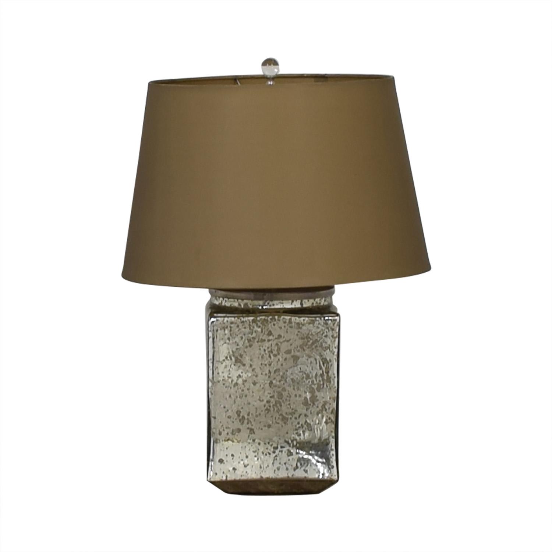 Reflective Rectangular Mirror Table Lamp used