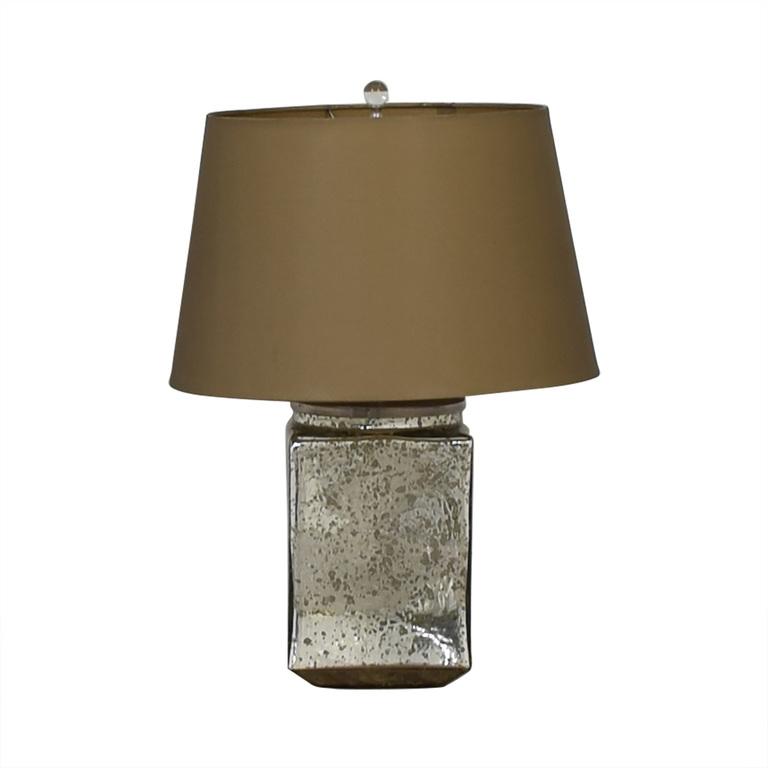 Reflective Rectangular Mirror Table Lamp