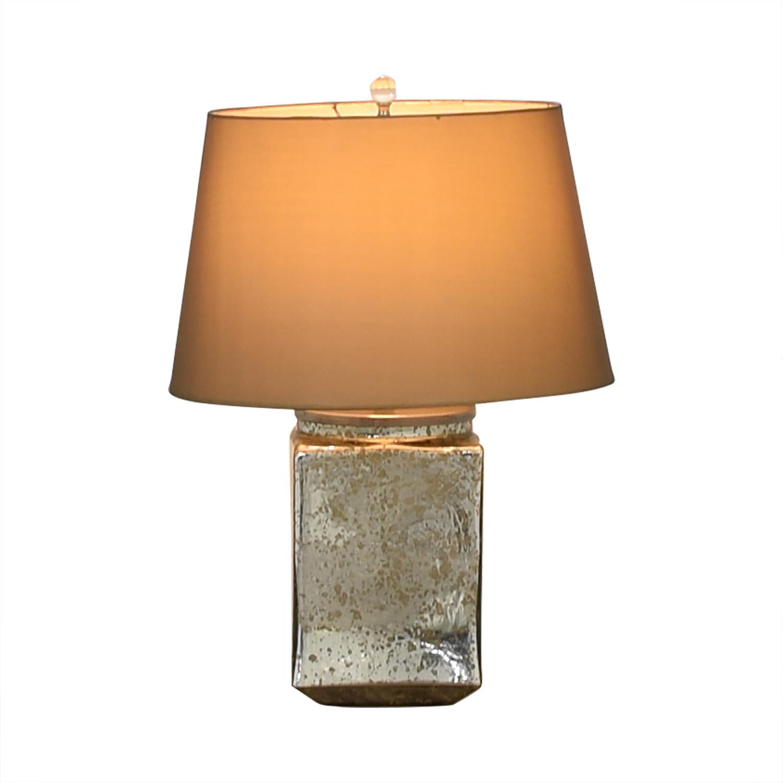 shop Reflective Rectangular Mirror Table Lamp  Decor