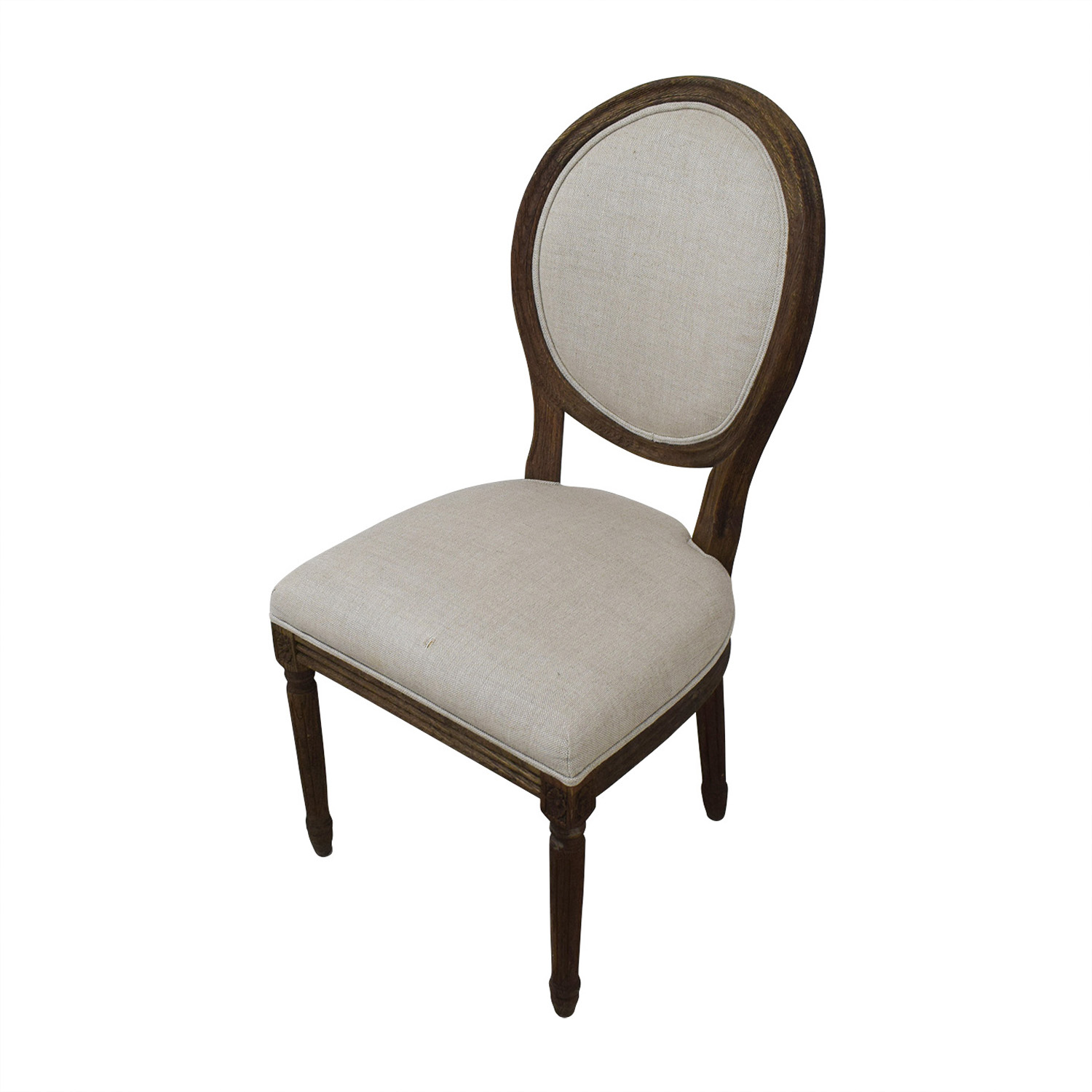 Restoration Hardware Restoration Hardware Vintage French Grey Upholstered Chairs for sale