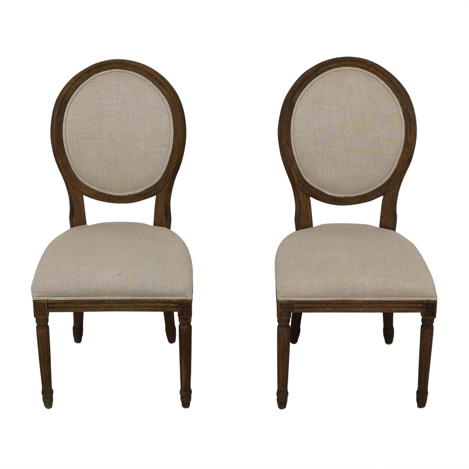 Restoration Hardware Restoration Hardware Vintage French Grey Upholstered Chairs Chairs