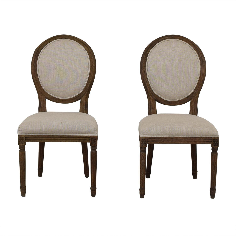 buy Restoration Hardware Vintage French Grey Upholstered Chairs Restoration Hardware Chairs