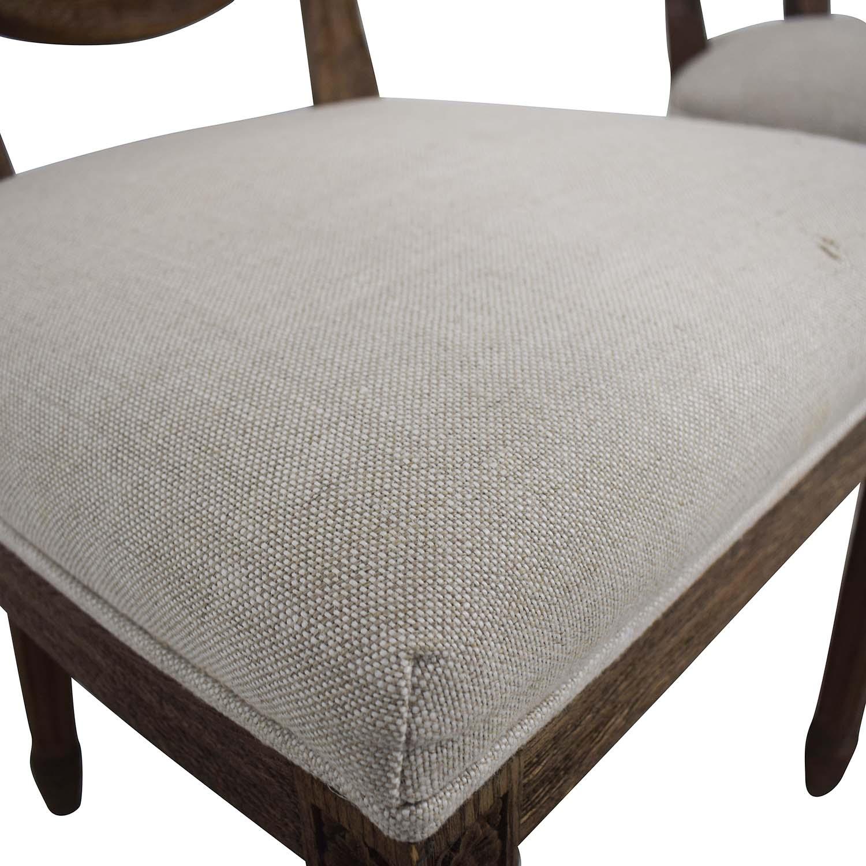 Restoration Hardware Vintage French Grey Upholstered Chairs Restoration Hardware