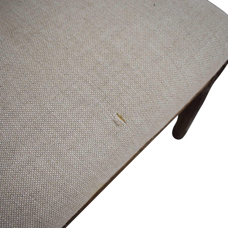 shop Restoration Hardware Vintage French Grey Upholstered Chairs Restoration Hardware