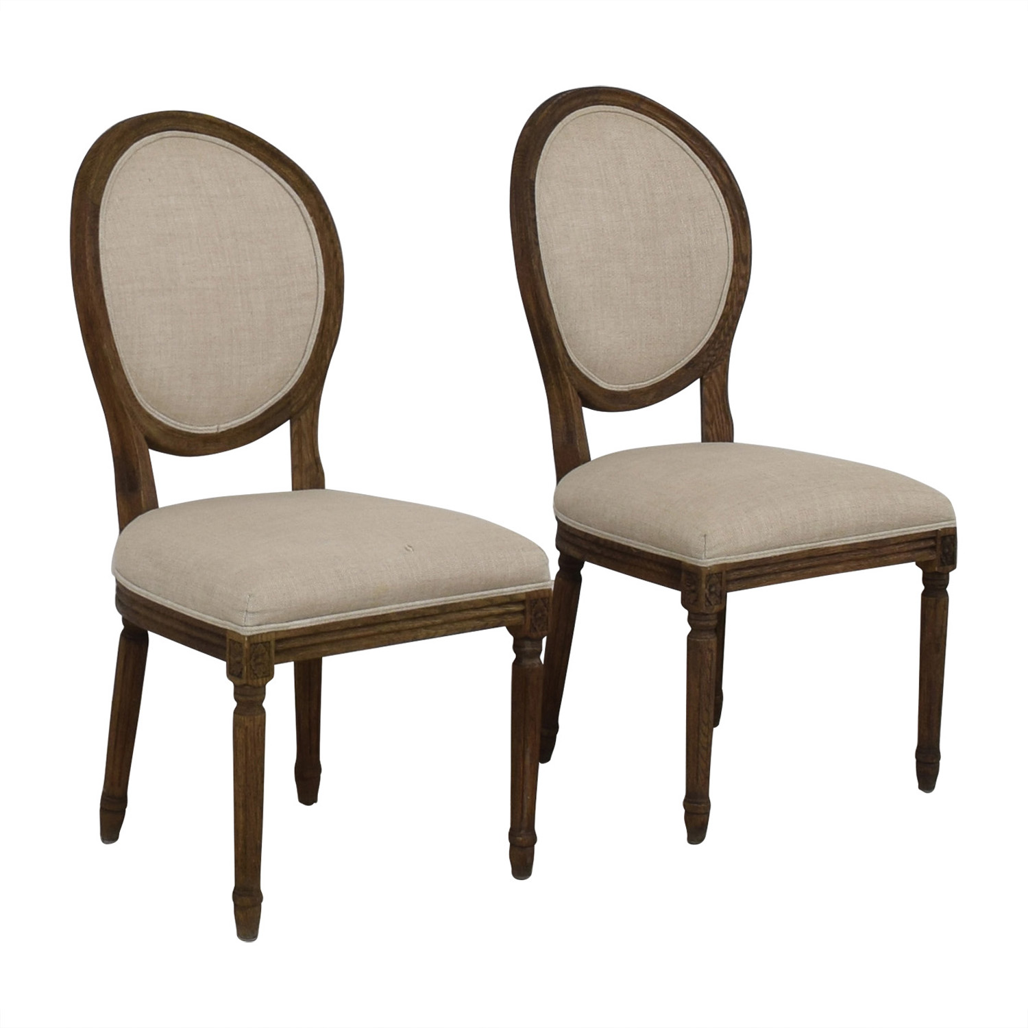 Restoration Hardware Restoration Hardware Vintage French Grey Upholstered Chairs nyc