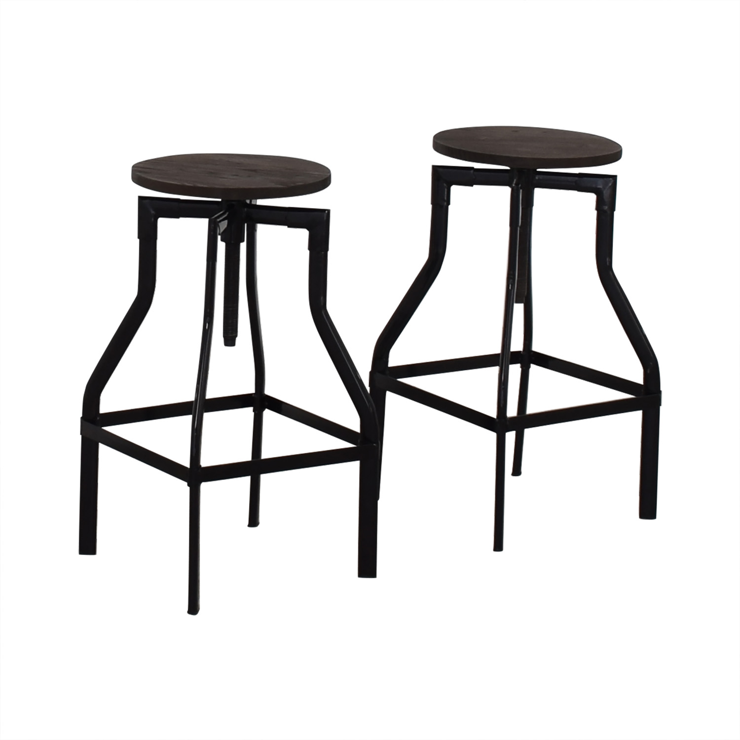 Industrial Wood Stools for sale