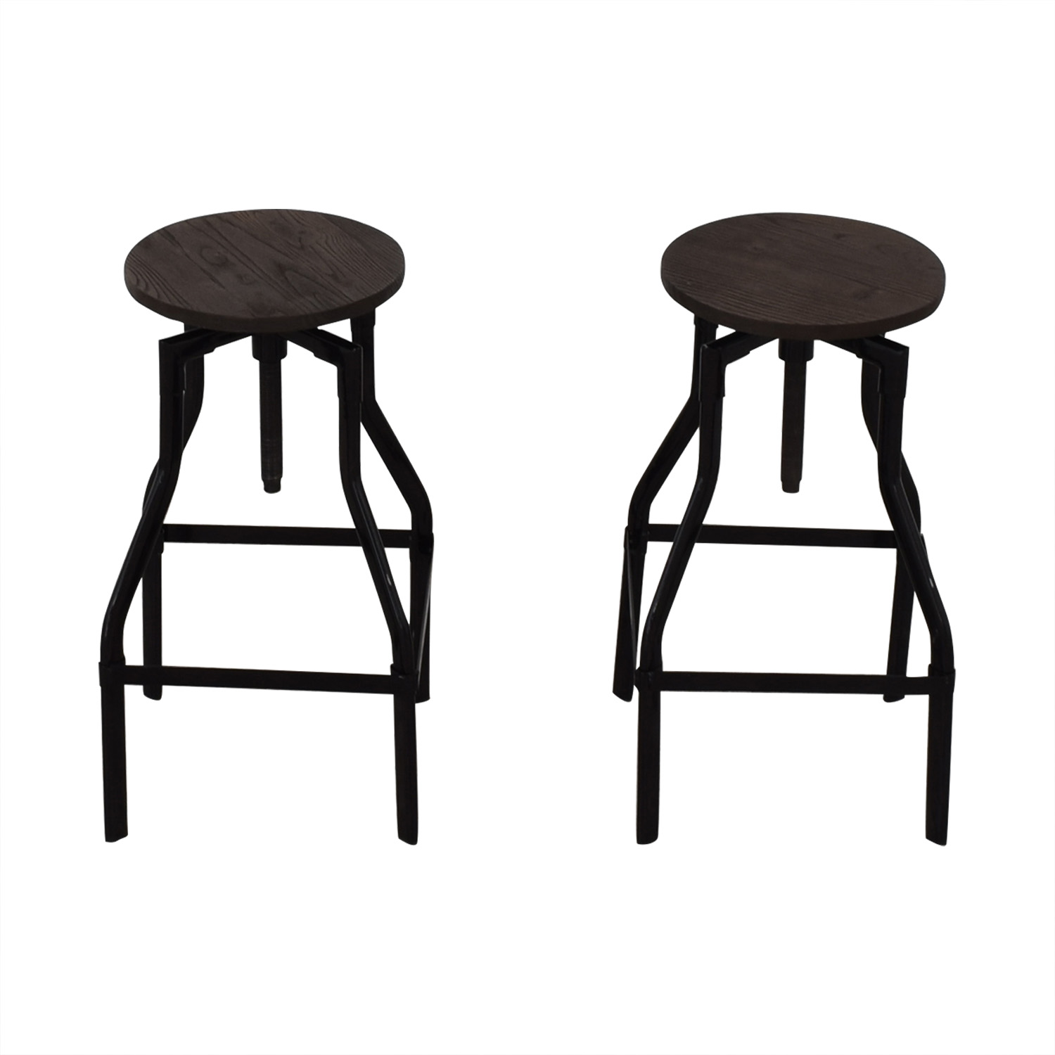 Industrial Wood Stools Stools