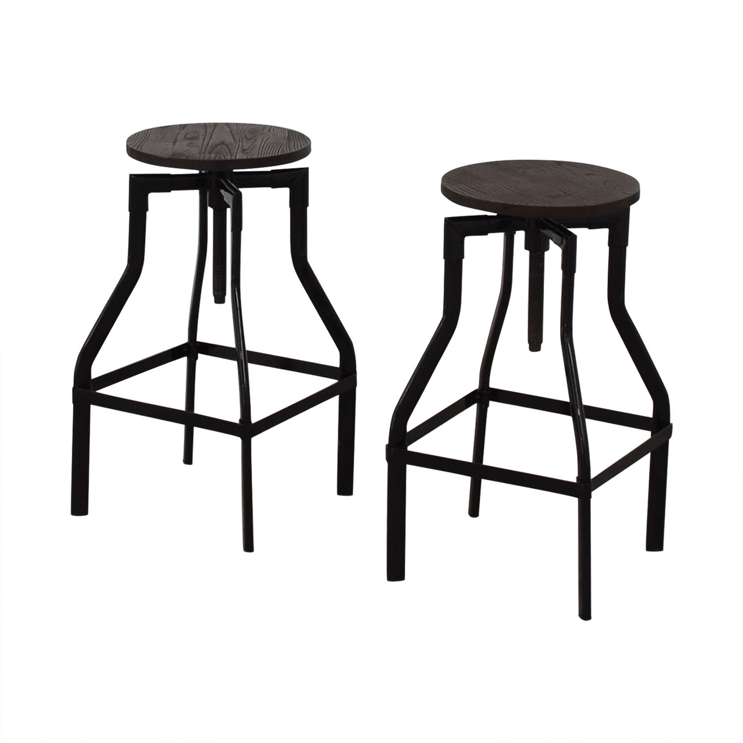 Industrial Wood Stools / Stools