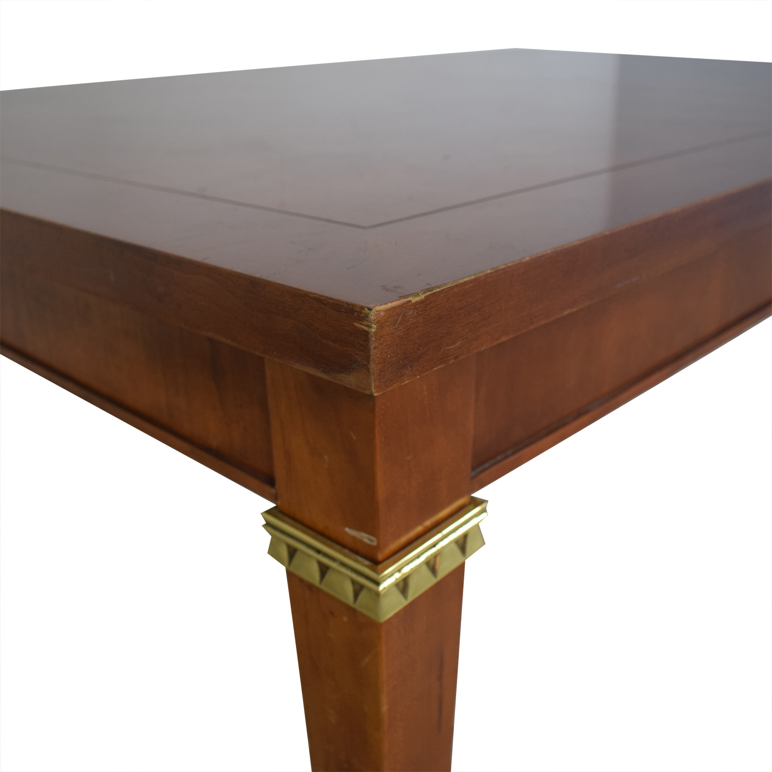 buy Vintage Dining Table With Gold Accents  Tables