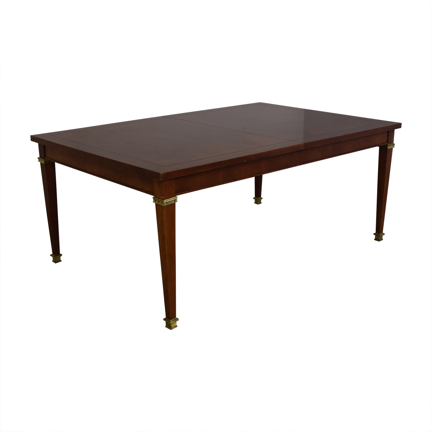 shop Vintage Dining Table With Gold Accents  Dinner Tables