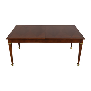 Vintage Dining Table With Gold Accents discount