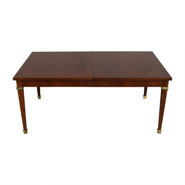 Vintage Dining Table With Gold Accents second hand