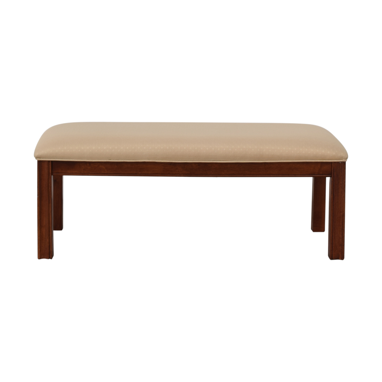 Beige Upholstered Bench