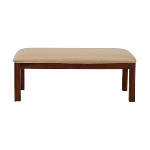 Beige Upholstered Bench second hand