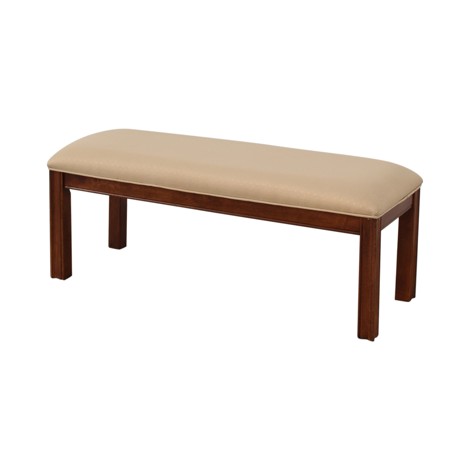 Beige Upholstered Bench dimensions