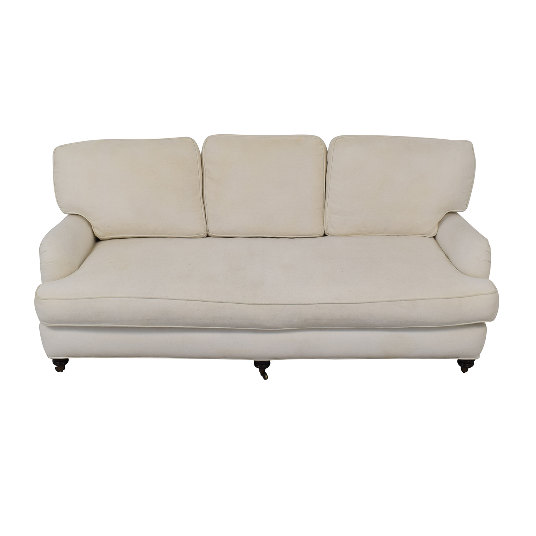 Marvelous 78 Off Pottery Barn Pottery Barn Linen Upholstered Sofa Sofas Interior Design Ideas Ghosoteloinfo