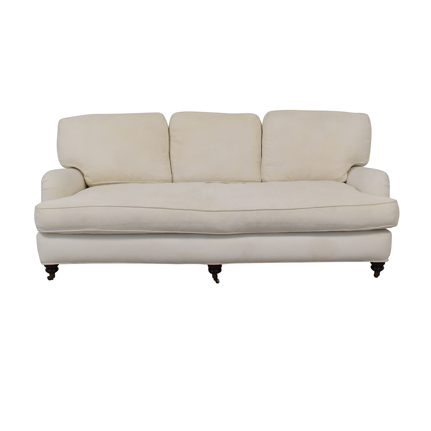 buy Pottery Barn Linen Upholstered Sofa Pottery Barn