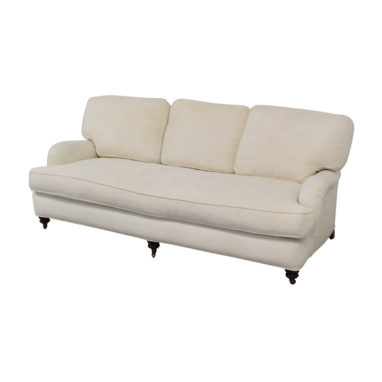 Admirable 87 Off Pottery Barn Pottery Barn Linen Upholstered Sofa Sofas Interior Design Ideas Ghosoteloinfo